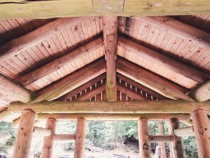 iconic log cabin roof structure