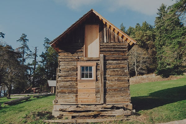 historic restored log cabin